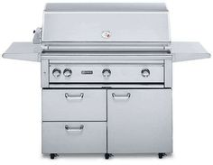 """Lynx L42ASFRNG 42"""" Freestanding Natural Gas Grill in Stainless Steel"""