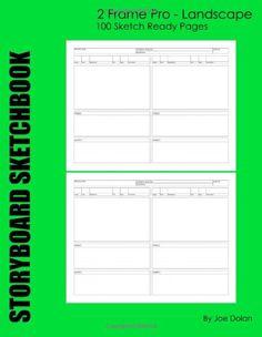 Storyboard Sketchbook - 2 Frame Pro - Landscape: 2 Frame Pro Storyboard Sketchbook - Used By Television Pros Worldwide by Joe Dolan