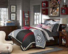 Teenage Guys Bedroom Ideas | Manchester United | PBteen