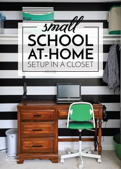 Take a tour of this small distance learning setup in a closet, filled with simple solutions to help your child stay focused all day long!
