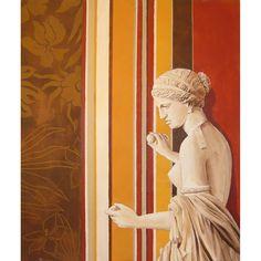 Begoña Pardo Cuadro moderno Estatua sobre papel pintado Cuadro moderno Estatua sobre papel pintado. Pintado en acrílico sobre papel. Obra original pintada a...