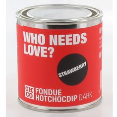 Fondue de Chocolate | Chocolate Company Who needs love (fresa) http://kenakogourmet.com/dulces-gourmet/chocolate/fondue-de-chocolate-chco-who-needs-love-fresa.html