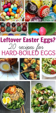 If you've got tons of boiled eggs left over from Easter, here are 20 awesome boiled egg recipe from breakfast, salad, sandwiches, dinner, and deviled eggs.