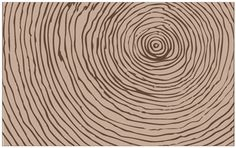 Eclectic tree-ring area rug design by Statement Style forecast
