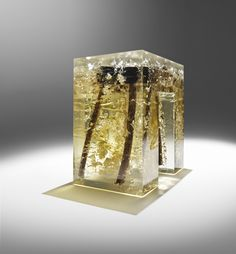 Luminous Modern Furniture Sculpted with Ancient Wood in Resin - My Modern Met Made by firm: Nucleo Italy