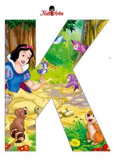 Alfabeto de Blancanieves con Animales. | Oh my Alfabetos!