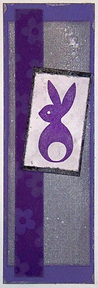 68 Lindenbell Papercrafts: Bookmarks XXVI: Imperial Rabbit