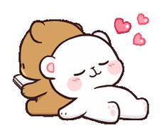 Line Sticker Indonesia . Indonesia Sticker line sticker indonesia Cute Love Pictures, Cute Love Gif, Cute Couple Cartoon, Cute Love Cartoons, Calin Gif, Cute Bear Drawings, Cute Cartoon Drawings, Bear Gif, Hug Gif
