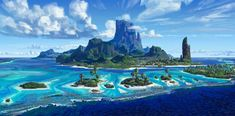 "INTERVIEW: ""Moana"" art director Ian Gooding on designing the lush Pacific Island environments for Disney's new film Fantasy Landscape, Fantasy Art, Pixar, Pokemon, Stunning Wallpapers, L5r, Walt Disney Animation Studios, Fantasy Island, Artwork Images"