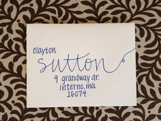 Wedding Invitation Addressing - Handwritten Envelopes - Sutton