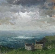 Fishermans Cottages Painting, David Pearce
