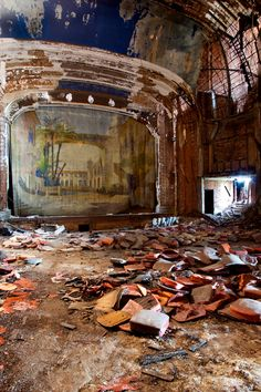 pinterest.com/fra411 #decay - Palace Theatre, 2009 | Gary | Indiana (abandoned theatre)