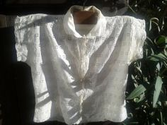 French 1900's Handmade Handembroidered Lace by SophieLadyDeParis, $98.00