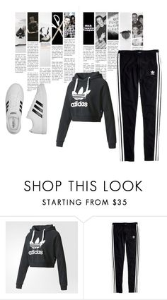 """""""Adidas"""" by lilmainella on Polyvore featuring adidas and Madewell"""