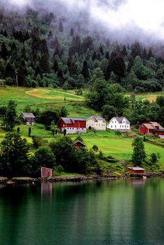 In the Hardagenfjord, Norway