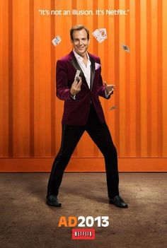 Will Arnett as Gob Bluth (left) and Tony Hale as Buster Bluth (Right). Netflix released new character posters to publicize the new season of Arrested Development. Maroon Tuxedo, Netflix Releases, Addicted Series, Will Arnett, Tv Reviews, New Shows, Best Tv, Favorite Tv Shows, Favorite Things