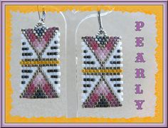 Beaded Earrings Native, Beaded Earrings Patterns, Seed Bead Patterns, Seed Bead Earrings, Diy Earrings, Beading Patterns, Beading Ideas, Earrings, Stud Earrings