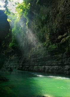 Green Canyon  West Java Indonesia