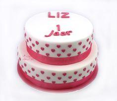 Hartjes stapeltaart/hearts on a Cake