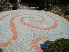 Simple double spiral backyard labyrinth