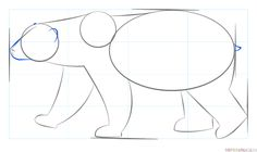 How to draw a polar bear step by step. Drawing tutorials for kids and beginners. Polar Bear Paint, Polar Bear Drawing, Drawing Tutorials For Kids, Drawing For Kids, Step By Step Painting, Step By Step Drawing, Polar Animals, Draw Animals, Fantasy Character