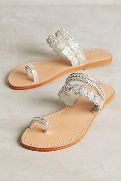 Mystique Jeweled Toe-Loop Sandals