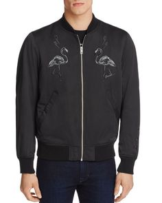 Diesel J-Flam Embroidered Bomber Jacket
