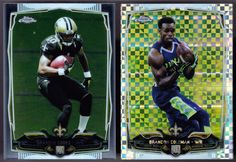 NEW ORLEANS SAINTS LOT OF 2 2014 CHROME ROOKIES COLEMAN XFRACTOR & COOKS CHROMER