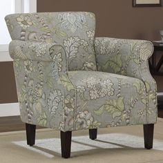 Pretty upholstered chair I would love to have in my lime-green to be office!