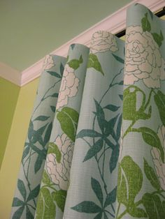 Love the curtains.  Should I bring some pale blue into my otherwise green&neutral living room?