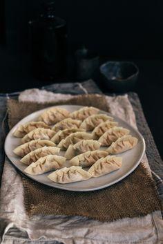 Pan Fried Kimchi Tofu Mandu | Korean Dumplings