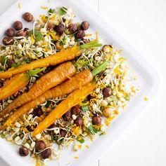 Salaatti paahdetuista porkkanoista | Uusia porkkanoita uudella tavalla, grillissä paahdettuna.