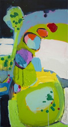 """Claire Desjardins; Acrylic, 2012, Painting """"Call Me"""""""
