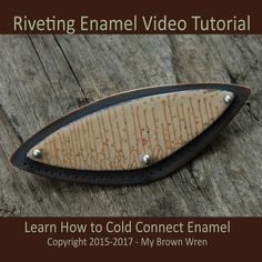 Riveting Enamel Video Tutorial - A basic step-by-step guide to cold connecting and heat connecting enamel. In this video you will learn how to make heat rivets and how to connect your enamel jewelry to metal using heat rivets and traditional riveting techniques. RECEIVING YOUR VIDEO: This video is too large to download from Etsy. It is housed on VIMEO for viewing. In your instant download you will receive a document with the website link and password to the video on VIMEO. You can access the…