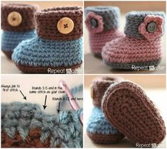 Ideas & Products: Crochet Cuffed Baby Booties