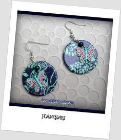 alittlemarket/Boucles d'oreilles rondes, papillons~Boucles d'oreilles sequin en carton, papier : Boucles d'oreille par boucles-d-oreilles-originales-insolites