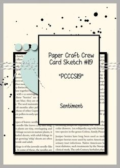 Stamping Imperfection; Paper Craft Crew Sketch