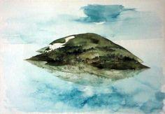 Flying island off Istanbul von Anton Lehmden Anton, Istanbul, Landscape Paintings, Landscapes, Whale, Art Gallery, Sky, Austria, Classic