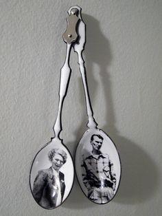 "Joe Pillari, ""Parsonage,"" 2011. Enamel on copper with silver."