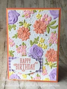 Best 12 Country Floral Dynamic Textured Embossing Folder Stampin Up! 2019 Sale A… - Kaarten Maken Hand Made Greeting Cards, Making Greeting Cards, Greeting Cards Handmade, Handmade Birthday Cards, Happy Birthday Cards, Birthday Greetings, Stamping Up Cards, Rubber Stamping, Embossed Cards