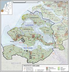 Topografie - Zeeland Family History, Holland, Countries, Amsterdam, Maps, School, Water, Africa, Dutch Netherlands