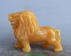 """6.7/"""" Exquisite Chinese 100/% NATURAL Topaz JADE HAND CARVED RUYI STATUE"""