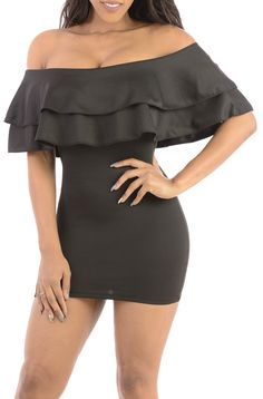 Verve Swerve- Sexy clubbing mini dress off the shoulder style-Great Glam is the web's best online shop for trendy club styles, fashionable party dresses and dress wear, super hot clubbing clothing, stylish going out shirts, partying clothes, super cute