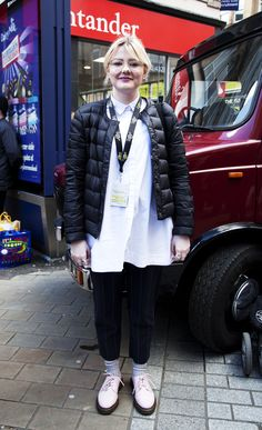 Live At Leeds Street Style: the 1461 shoe in Bubblegum Virginia leather. Dr. Martens, Live At Leeds, Street Style 2016, Leather Boots, Chelsea Boots, Virginia, Shoes Sandals, Coat, Jackets