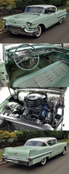 Dieses und weitere Luxusprodukte finden Sie auf der Webseite von Lusea.de  What a sight, what a beauty! 1957 Cadillac Series 62 Coupe #JackScmitt #Cadillac…