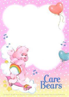 Care Bears: Cheer Bear Stationery Sheet