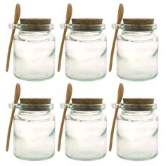 Jars with Wooden Spoons....great for honey, spices or mixes.