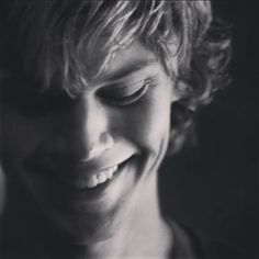 Evan Peters, he smiles and doesn't even realize how many girls are melted now