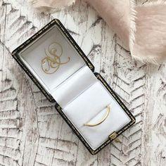 A recent curved band packed up neatly in its box #jewellery #rings #wedstagram #weddingideas #shopsmall #handmadejewelry #nikkistarkjewellery
