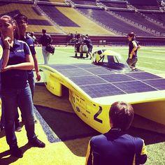 Michigan Solar Car in the Big House